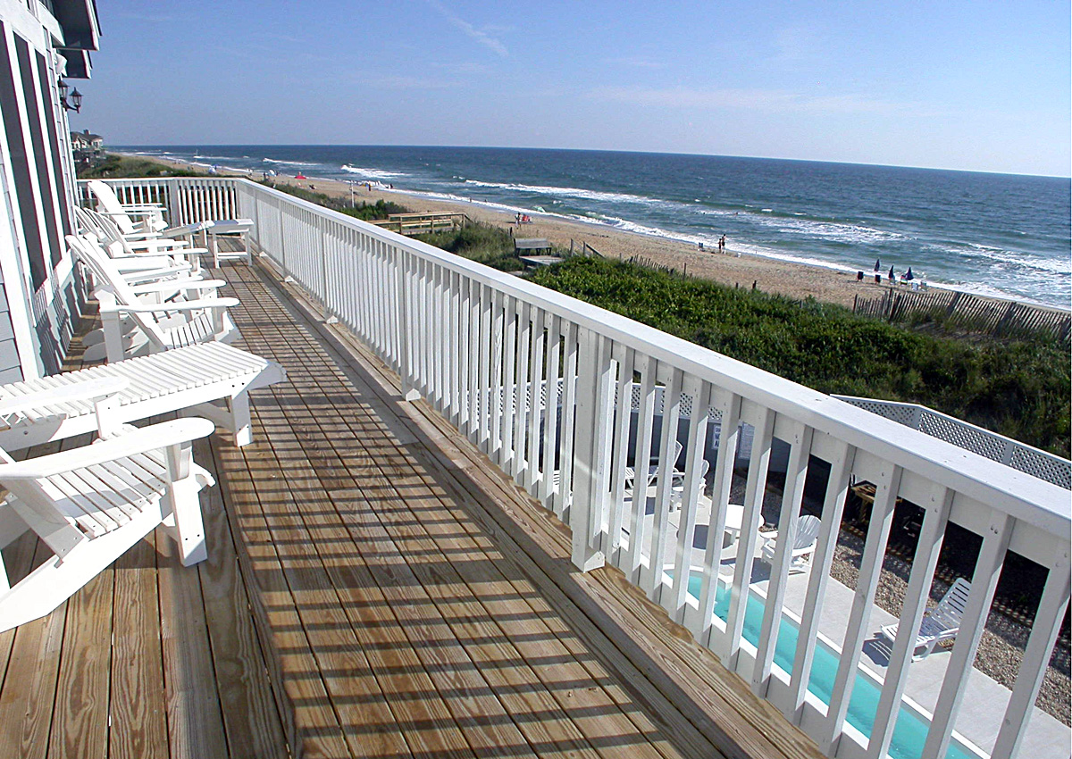 Beach front access at Duck Oceanfront