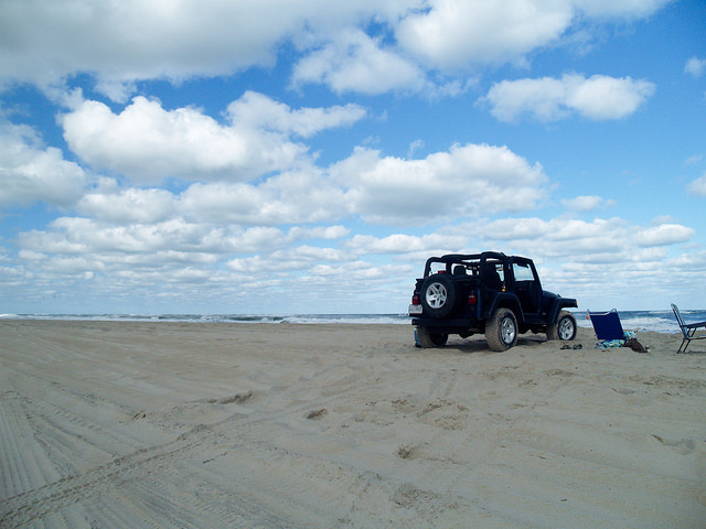 Jeep on Beach