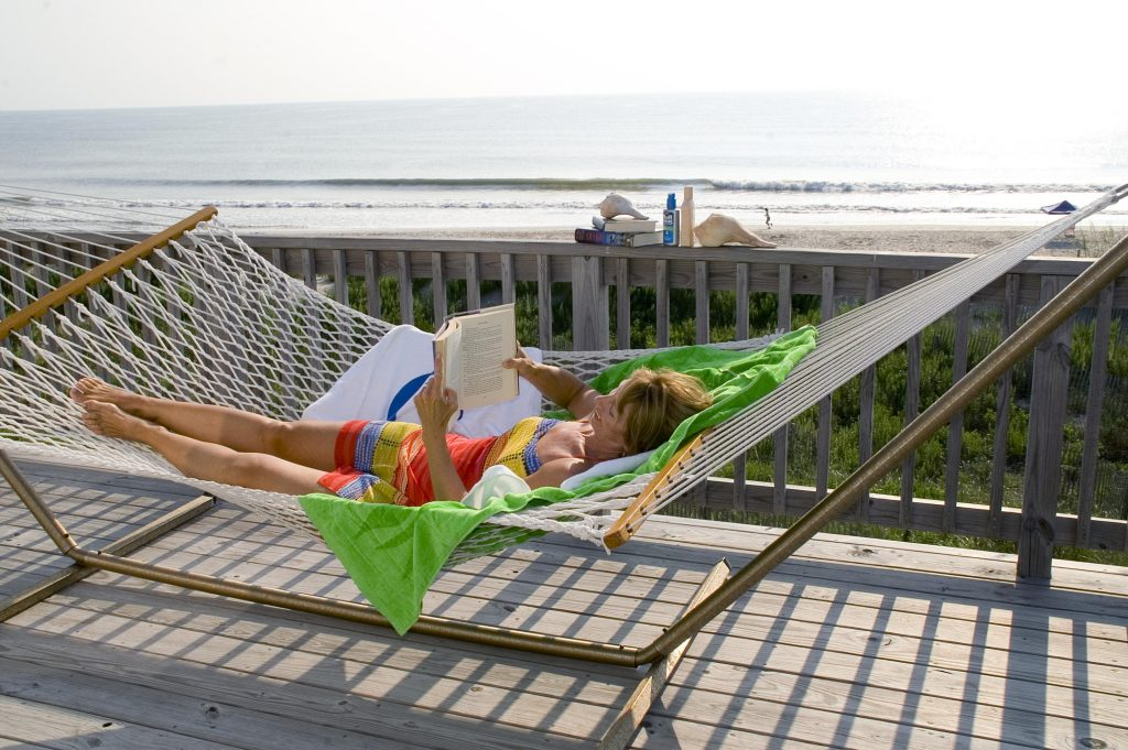hammock with book