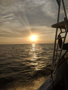 fishing boat sunrise