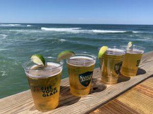 beer by the ocean