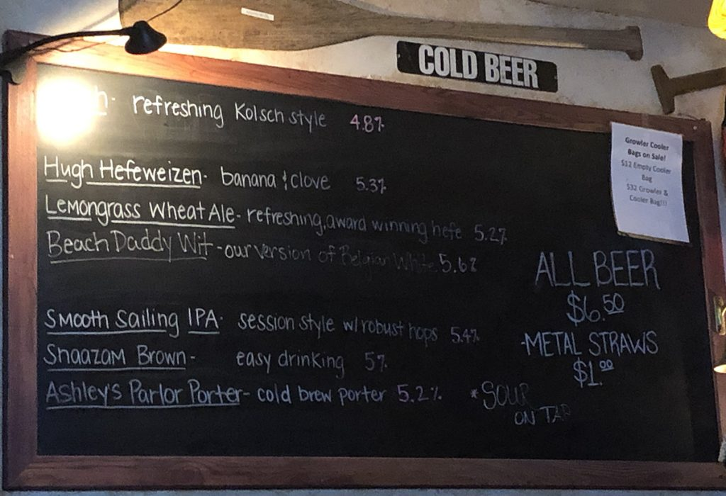 outer banks brewing station menu