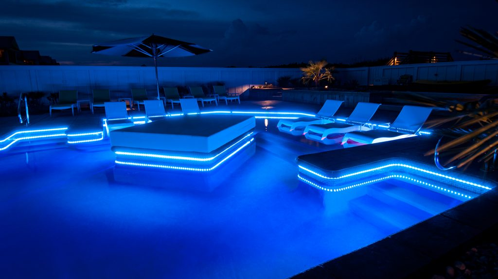 ER010 Pool Area at Night