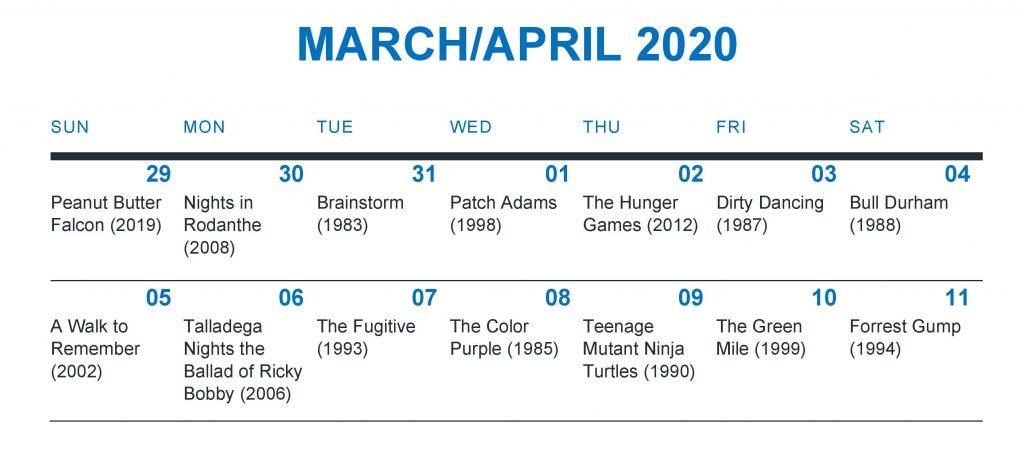 Twiddy Movie Calendar