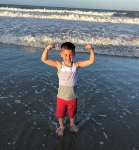 muscle boy beach