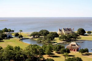 Looking toward Currituck Sound and The Whalehead Club