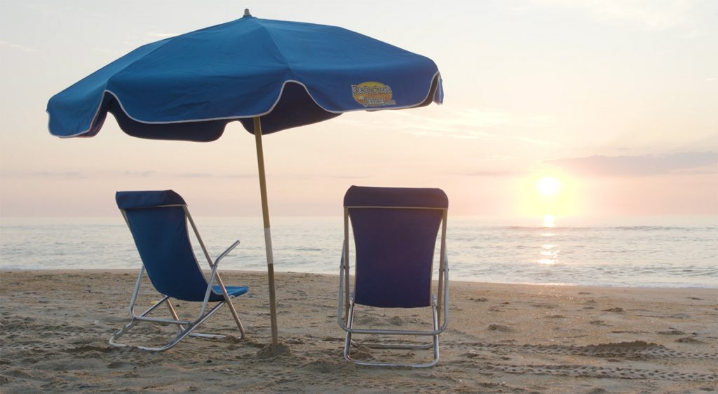 beach chairs sunrise