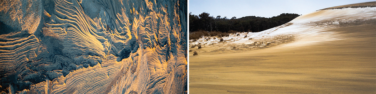 Jockey's ridge winter sand formations