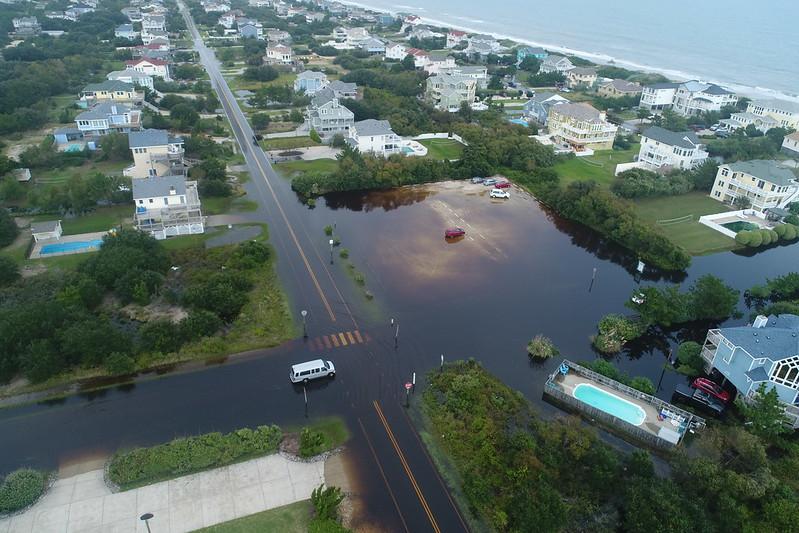 Hurricane Dorian flooding Bonito Drive Corolla