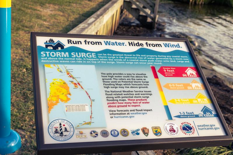 OBX hurricanes storm surge marker info