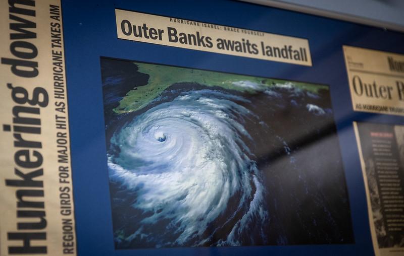 Hurricane Isabel OBX newspaper articles