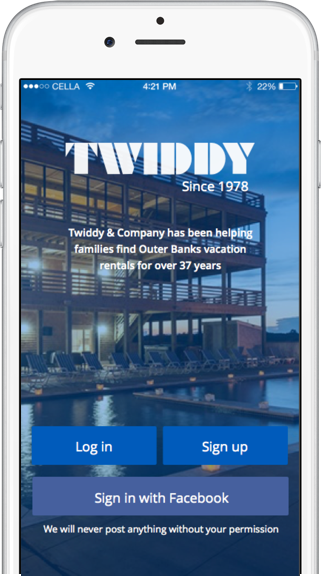 Simplify your vacation with the new Twiddy app