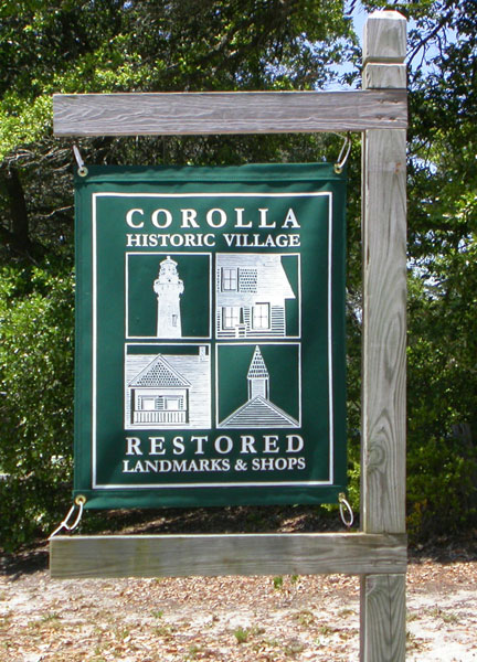 Historic Corolla Village sign