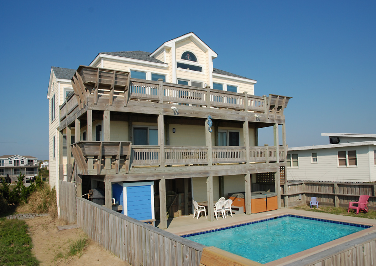 Sea Horsing Around Oceanfront Home In Southern Shores Ss