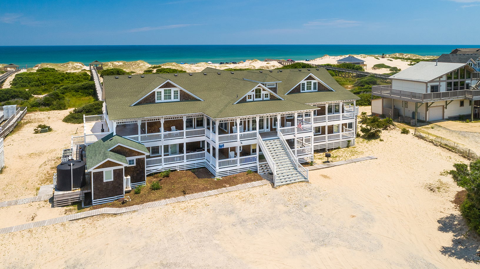 rentals the beach outer banks company rental cottage ocean hemingway aerialext vacation twiddy