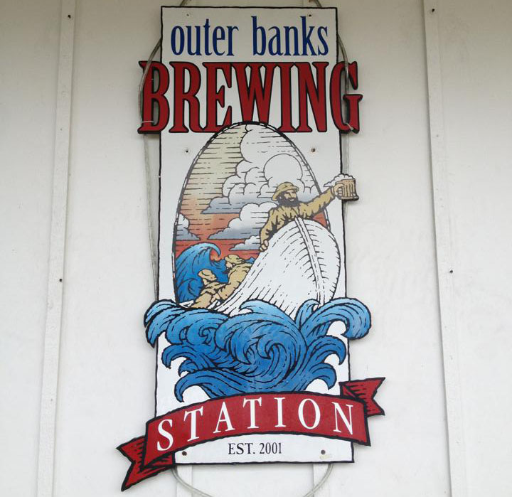 Outer Banks Brewing Station sign