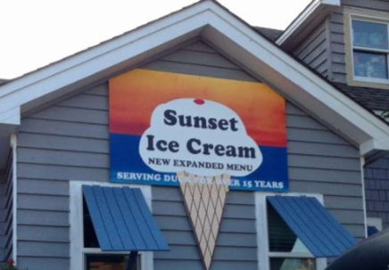 Sunset Ice Cream exterior