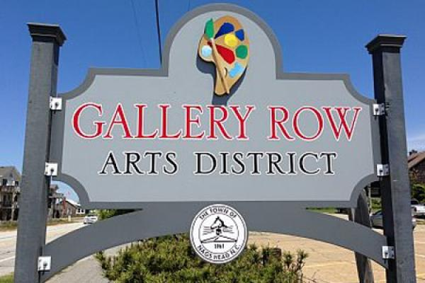 Gallery Row Arts District sign