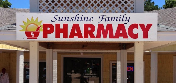 Sunshine Family Pharmacy sign